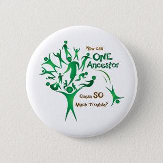 Ancêtre de l'arbre un badge rond 5 cm