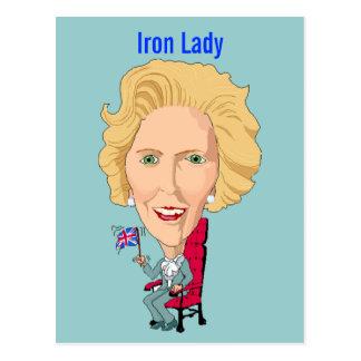 Ancien premier ministre britannique Dame de carte Cartes Postales