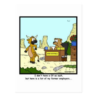 Anciens employeurs : Bande dessinée de vache Carte Postale