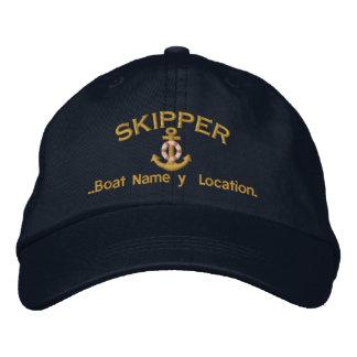 Ancre de capitaine votre nom de bateau votre nom casquettes de baseball brodées