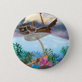 Ancre des Caraïbes Badge Rond 5 Cm