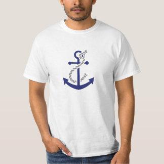 Ancre et corde nautiques t-shirt