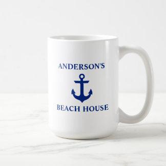 Ancre nautique de Chambre de plage de nom de Mug