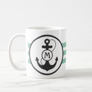 Ancre nautique mug blanc
