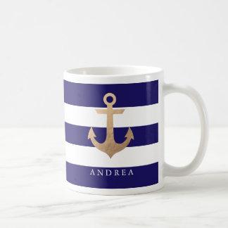 Ancre nautique personnalisée de   mug blanc