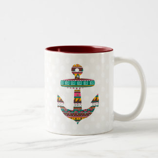 Ancre tribale tasse 2 couleurs