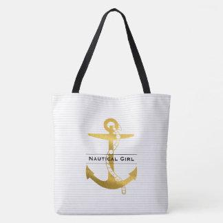 Ancrez avec la fille nautique de la corde | sac