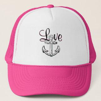 Ancrez le rose nautique mignon de casquette de
