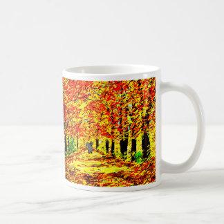 âne dans le feuille d'automne mug