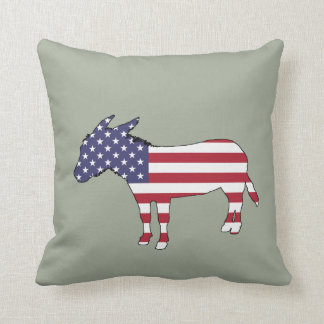 "Âne ""de drapeau américain"" coussin"