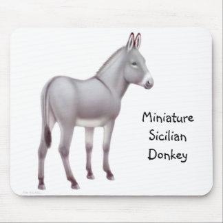 Âne sicilien miniature Mousepad Tapis De Souris
