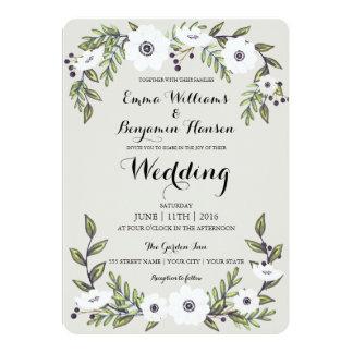 Anémones peintes - faire-part de mariage floral