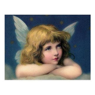 Ange adorable de cru de Noël Cartes Postales