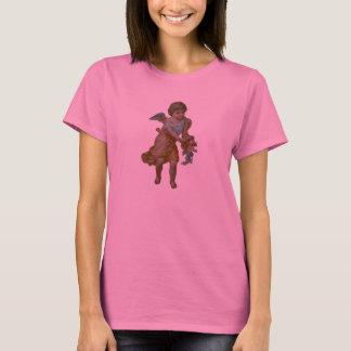 Ange avec le T-shirt de corne d'abondance