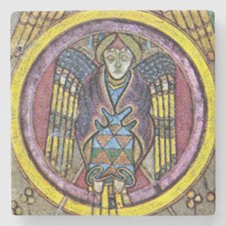 Ange celtique de Kells, dessous de verre irlandais Dessous-de-verre En Pierre