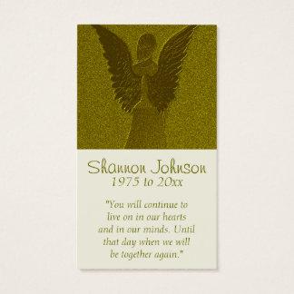 Ange commémoratif d'or de la carte  