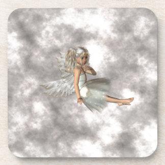 Ange dans les nuages sous-bock