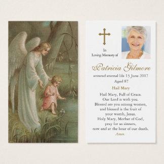 Ange de carte funèbre de prière de sympathie de