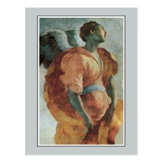 Ange de l'annonce par Jacopo DA Pontormo Carte Postale