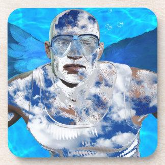 Ange de natation sous-bocks