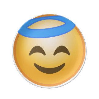 Ange de sourire Emoji Assiettes En Porcelaine