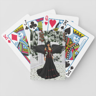 Ange des cartes de jeu foncées cartes à jouer