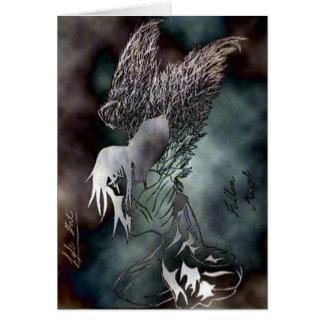 Ange graphique 10-26-10 d'ombre carte de vœux