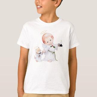 Ange mignon et chat de bébé t-shirt