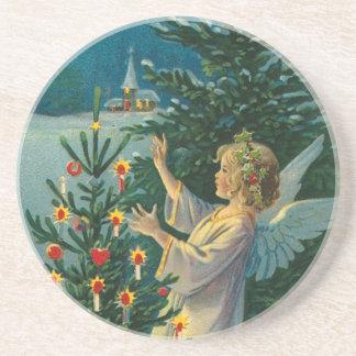 Ange victorien de Noël Dessous De Verre