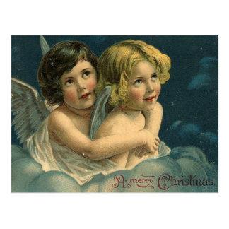 Anges un cru de Joyeux Noël Carte Postale