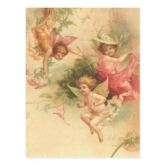 anges vintages carte postale