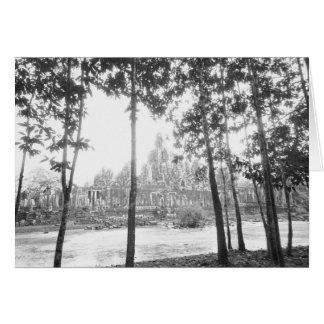 Angkor Cambodge, vue du Bayon Carte