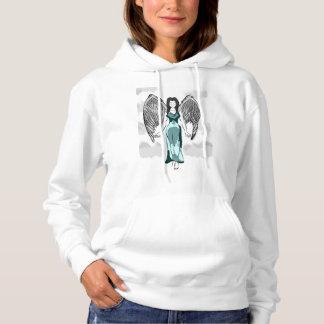 Angle à capuchon de base du sweatshirt des femmes