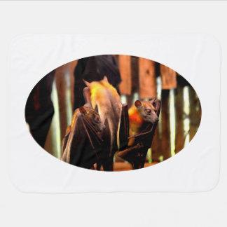animal de créature de peinture de batte se levant couverture pour bébé