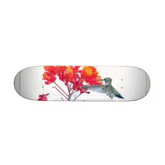 Animal de faune d'oiseau de colibri floral plateau de skateboard