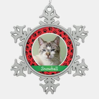 Animal familier de chat personnalisé par | décoration de noël