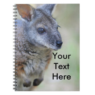 Animal indigène australien de wallaby carnet