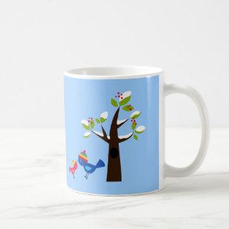 Animal mignon de bande dessinée d'arbre mug