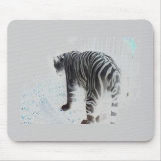 Animal sauvage de tigre blanc tapis de souris