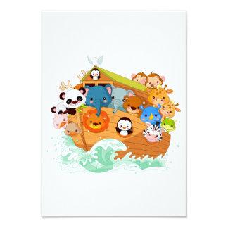 Animaux aux invitations d'art de Noahs