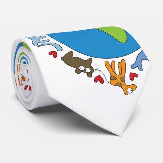 Animaux de bande dessinée de la cravate du monde
