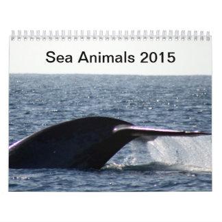 Animaux de mer 2015 calendrier mural