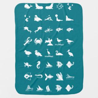 Animaux familiers de poissons d'animaux d'oiseaux couvertures de bébé