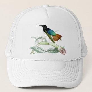 Animaux floraux de faune de fleurs d'oiseaux de casquette
