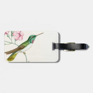Animaux floraux de faune de fleurs d'oiseaux de étiquette à bagage