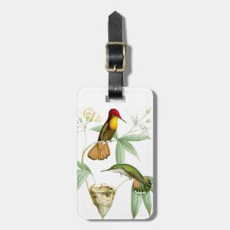 Animaux floraux de faune de fleurs d'oiseaux de étiquettes bagages