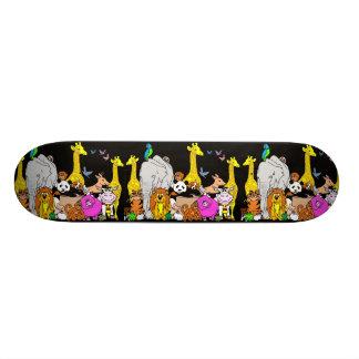 Animaux heureux plateau de skate