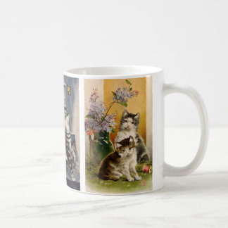 Animaux vintages, chatons victoriens mignons mug