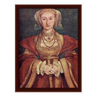 Anne de Cleves. Hans Holbein le plus jeune Carte Postale