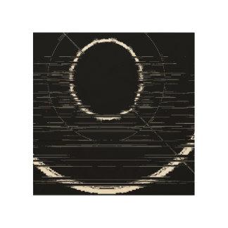 anneau blanc impression sur bois